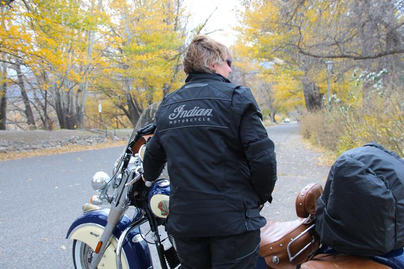 Review: Simple Waterproof Motorcycle Touring Pants Jacket Rear View Logo