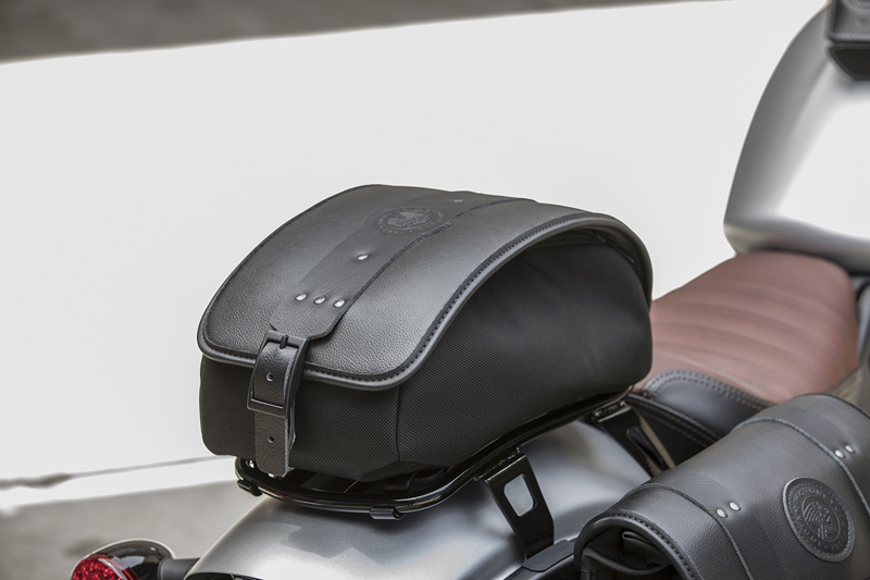 less is more indian scout bobber luggage