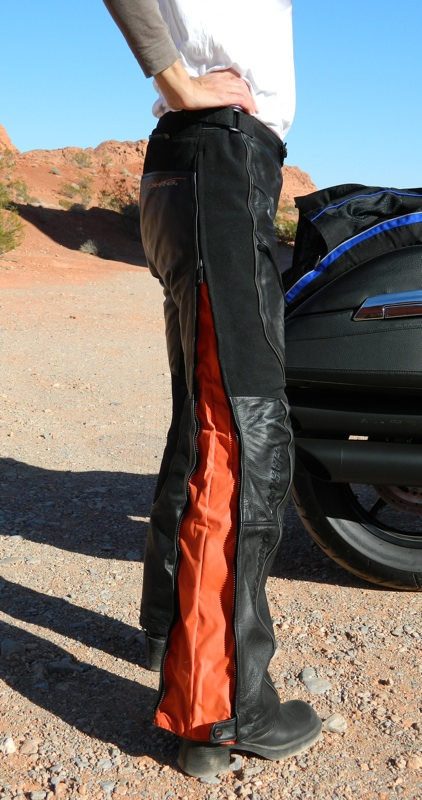 Harley-Davidson FXRG Leather Overpant Review Side