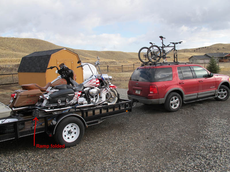 Best Motorcycle Trailer Loading Ramp Review Folded