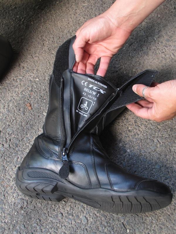 TCX Lady Aura Boot Review Waterproof Gussett