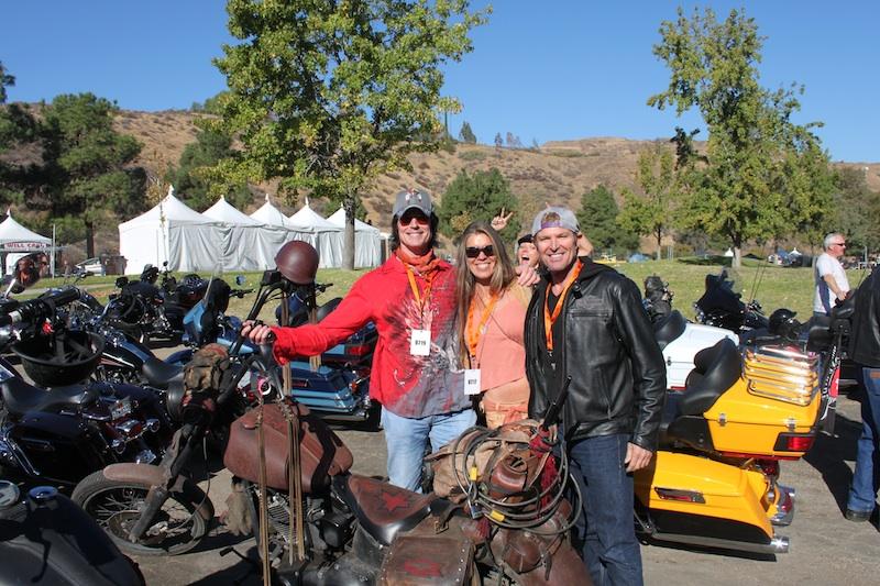 Backroads with Betsy Love Ride 30 Bold and Beautiful actors motorcycle