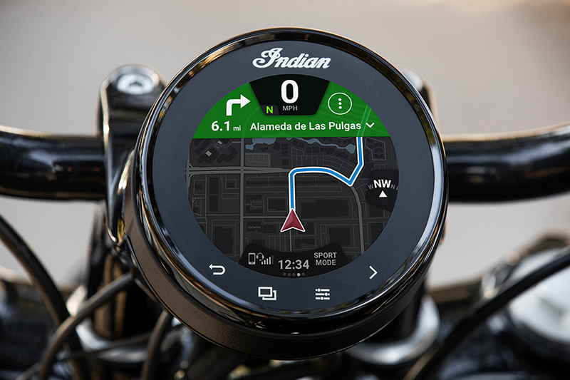 new motorcycle review 2022 indian motorcycle chief touchscreen display map gps