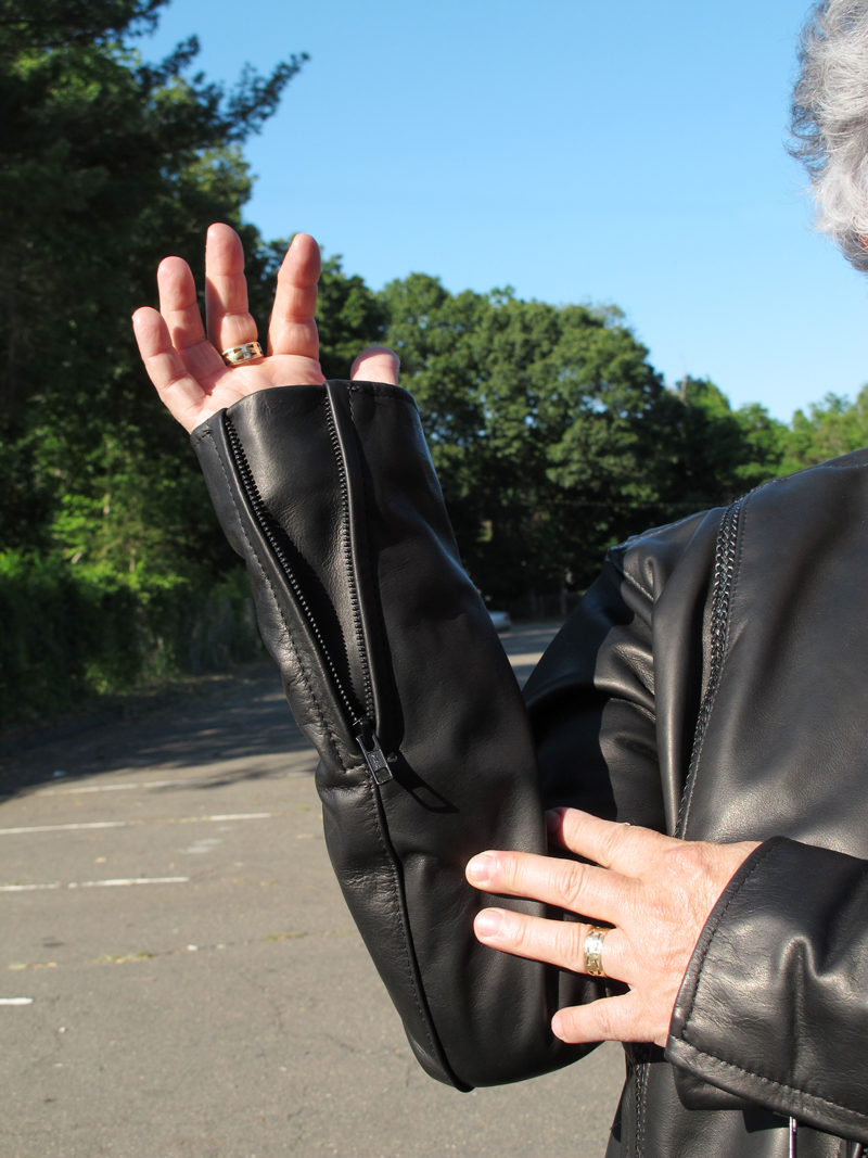 review leather motorcycle jacket with braided detail made in usa sleeve