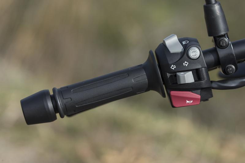 review bmw g 310 gs entry level dual sport left grip