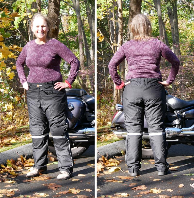 Review: California Heat Women's Electric Gear Pants Front and Back