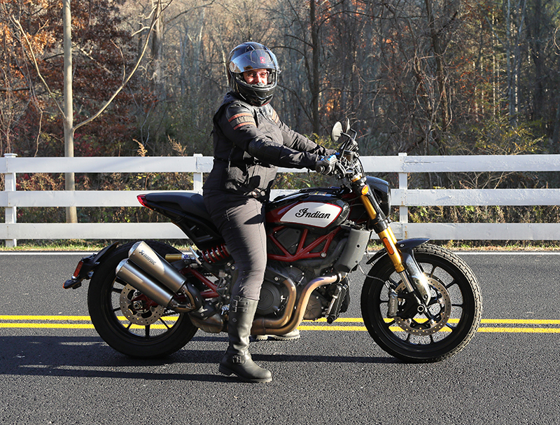 new bike review indian motorcycle ftr 1200 s v-twin roadster seat height tip toes