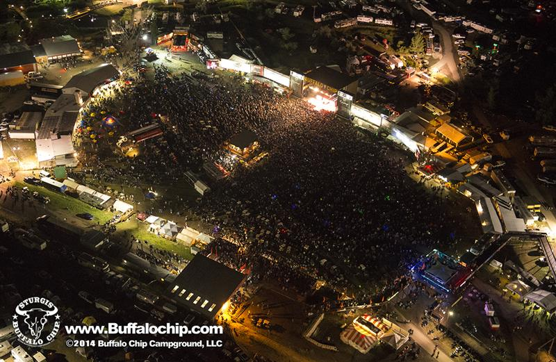 74th Annual Sturgis Motorcycle Rally Buffalo Chip aerial shot