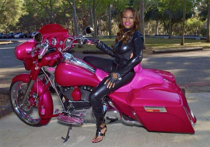pink motorcycles custom street glide paint heart shaped