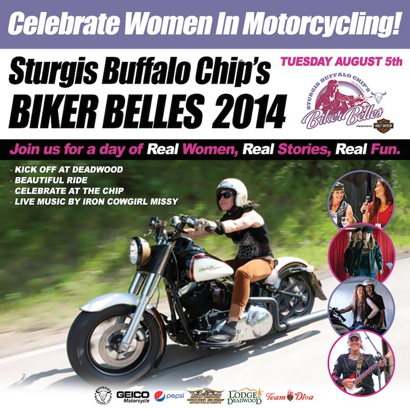 Exciting line-up for Biker Belles 2014 flyer