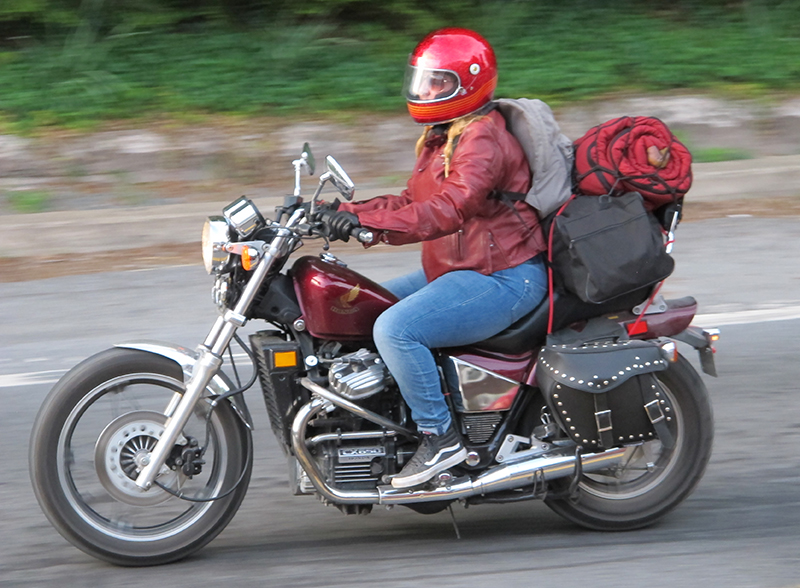 women riders now guide to motorcycle camping bulky riding