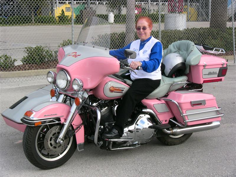 Pink Motorcycles Dot Robinson bike