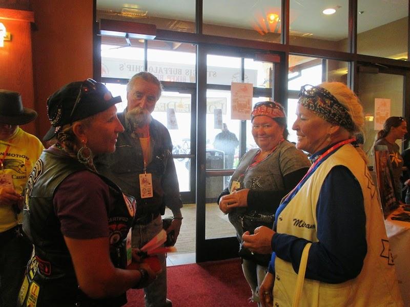 Event Coverage Biker Belles Ride at Sturgis 2014 lobby reception