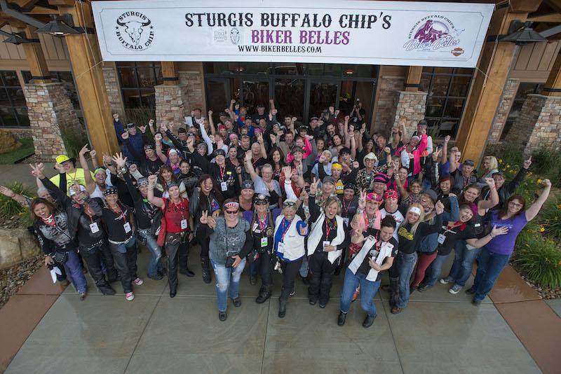 Event Coverage Biker Belles Ride at Sturgis 2014 group photo