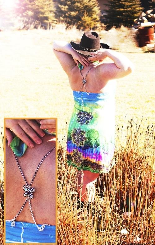 Fun decorative bra straps cross back beaded