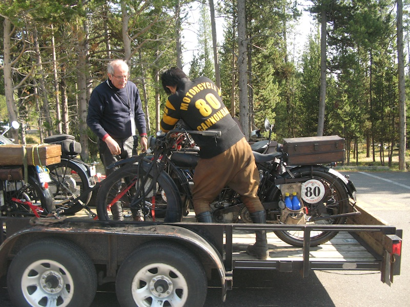 Four Women Compete in Cross-Country Motorcycle Event breakdown trailer