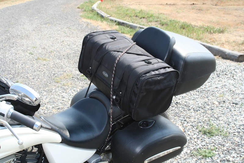 motorcycle trip packing tips bungee cords