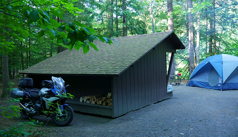motorcycling safely in a pandemic camping