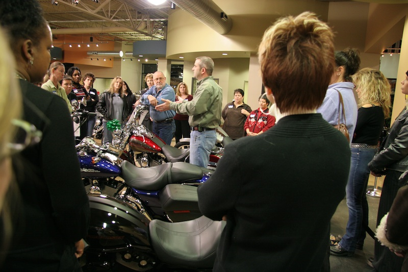 selling to women female only events motorcycles