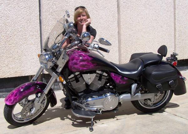 Pink Motorcycles victory kingpin