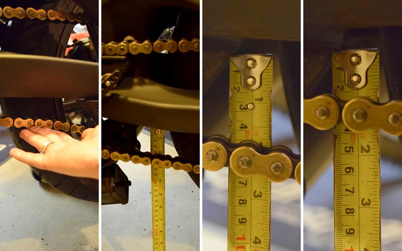 Do It Yourself Final Drive Maintenance Chain Slack