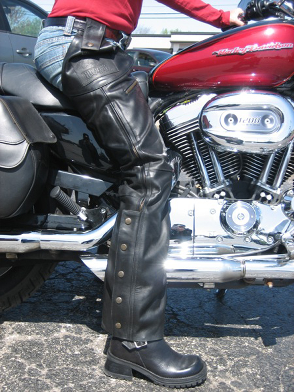 pros cons of motorcycle riding jeans pants chaps hugger chaps