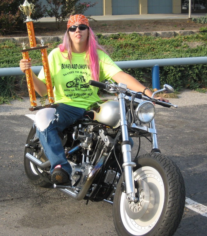 No Mans Getting in Way of Love of Motorcycling Trophys