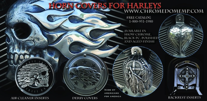 2013 Holiday Gift Guide Chrome Dome Horn Covers for Harleys
