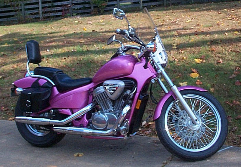 Pink Motorcycles shadow VLX