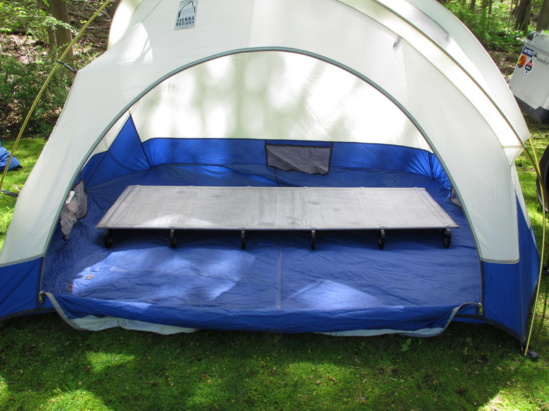 review thermarest luxurylite ultralite cot for motorcycle camping in tent