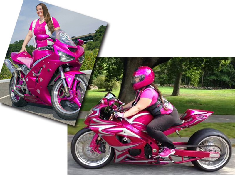 pink motorcycles courtney bouchard suzuki gsxr 1000 ninja 636