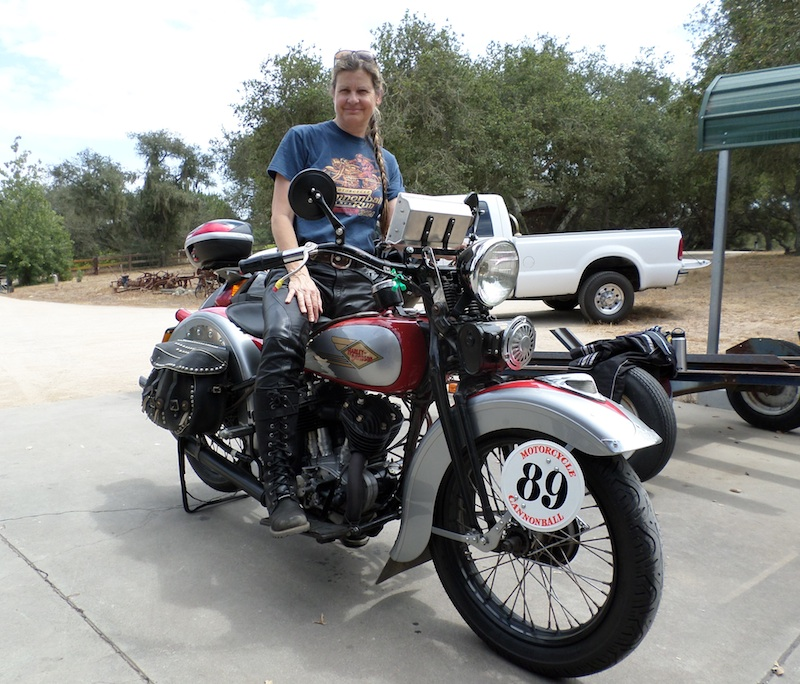 Four Women Compete in Cross-Country Motorcycle Event Cris Sommer Simmons