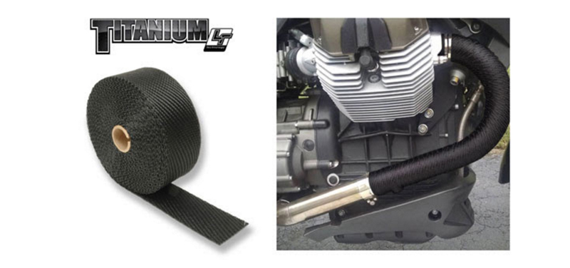 exhaust wrap to control heat