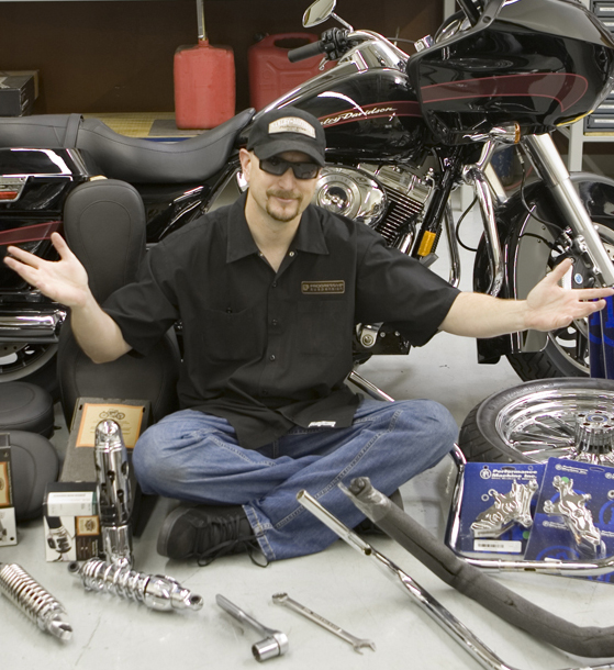 Changing your Motorcycle's Shocks to Get Lower Dave Zemla