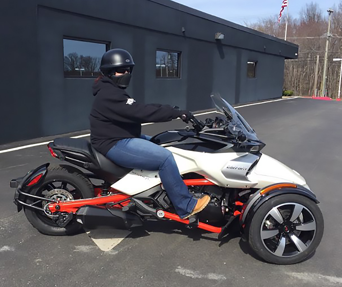 Learning to Ride a 2-Wheeled Motorcycle, then Choosing 3 Wheels Spyder