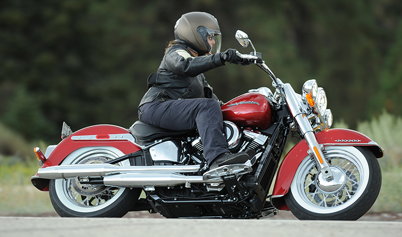 long distance riding pain softail deluxe