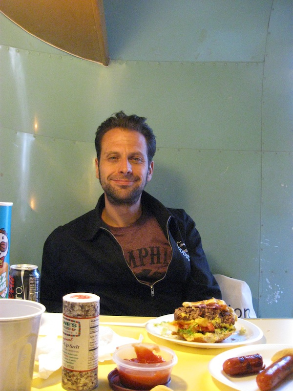 Review Shady Dell Bisbee Arizona el rey dining area man hamburger