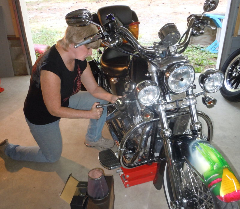 your motorcycles a wicked sportster install