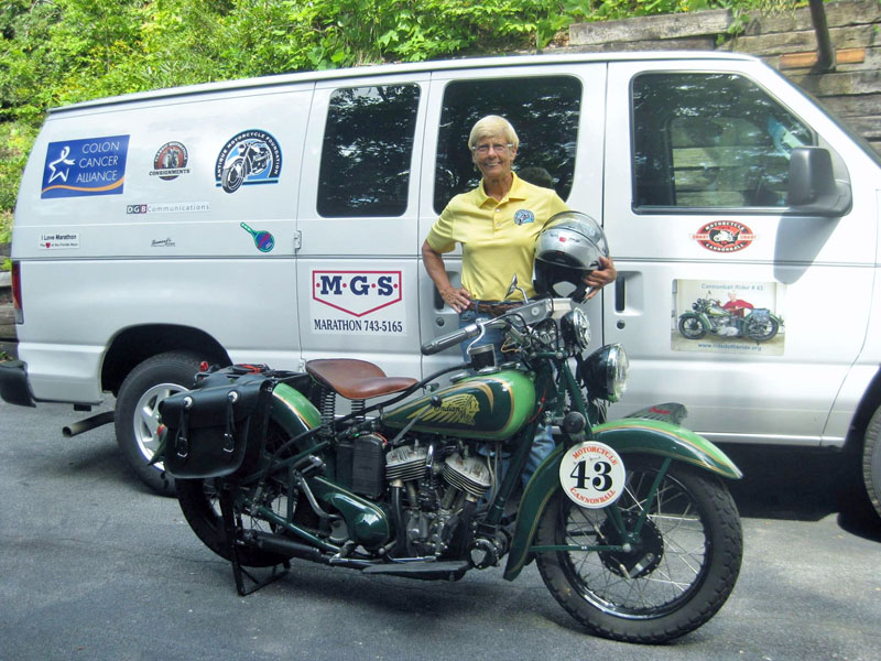Four Women Compete in Cross-Country Motorcycle Event Dottie Mattern