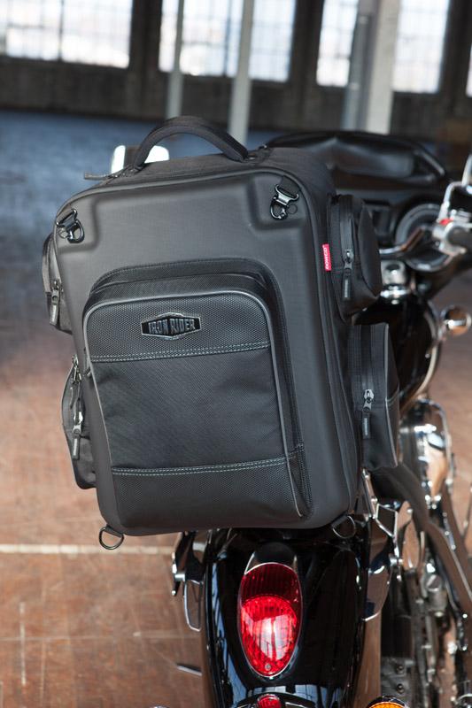 new motorcycle backrest bag ideal for weekend trips weekender