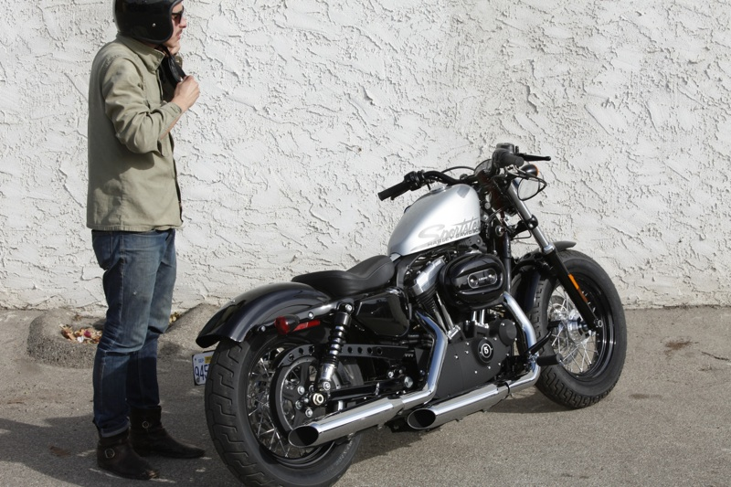 review harley davidson forty eight man