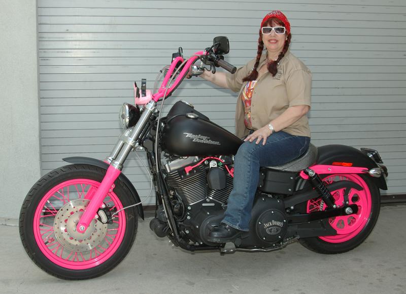 Pink Motorcycles Dyna Street Bob