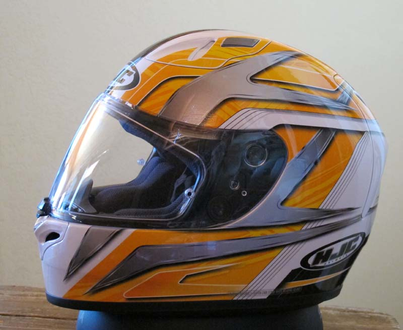 Helmet Review HJC FG-17 yellow and white graphics