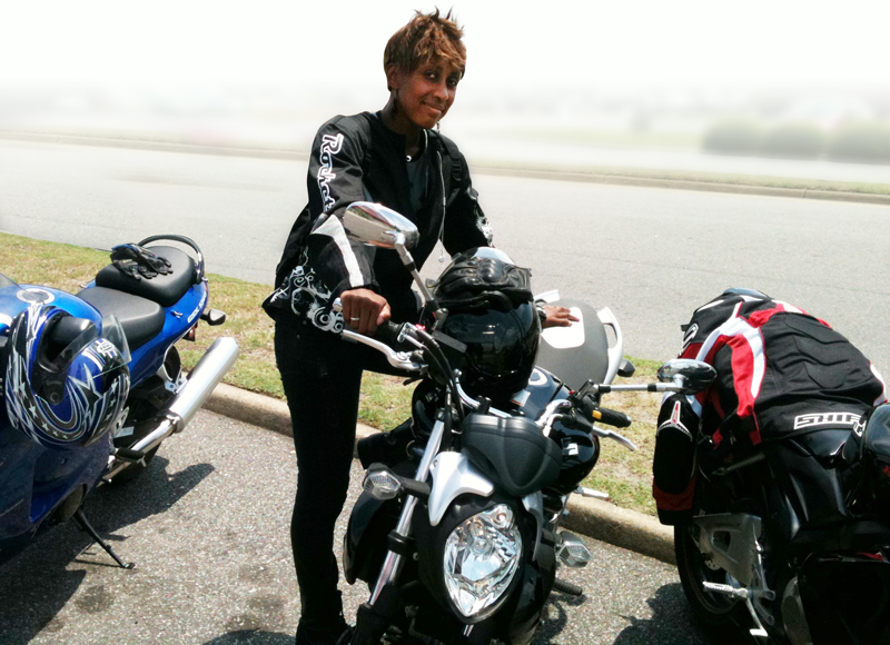 nothing stopped her from becoming a motorcycle rider