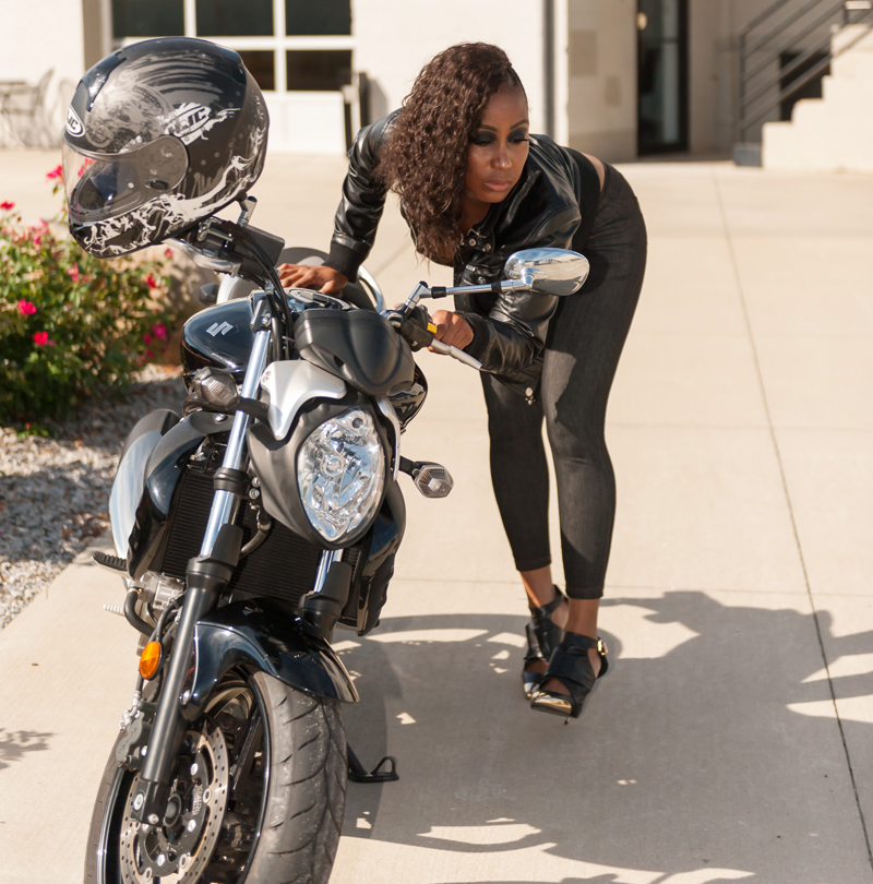 nothing stopped her from becoming a motorcycle rider fatima gaskin