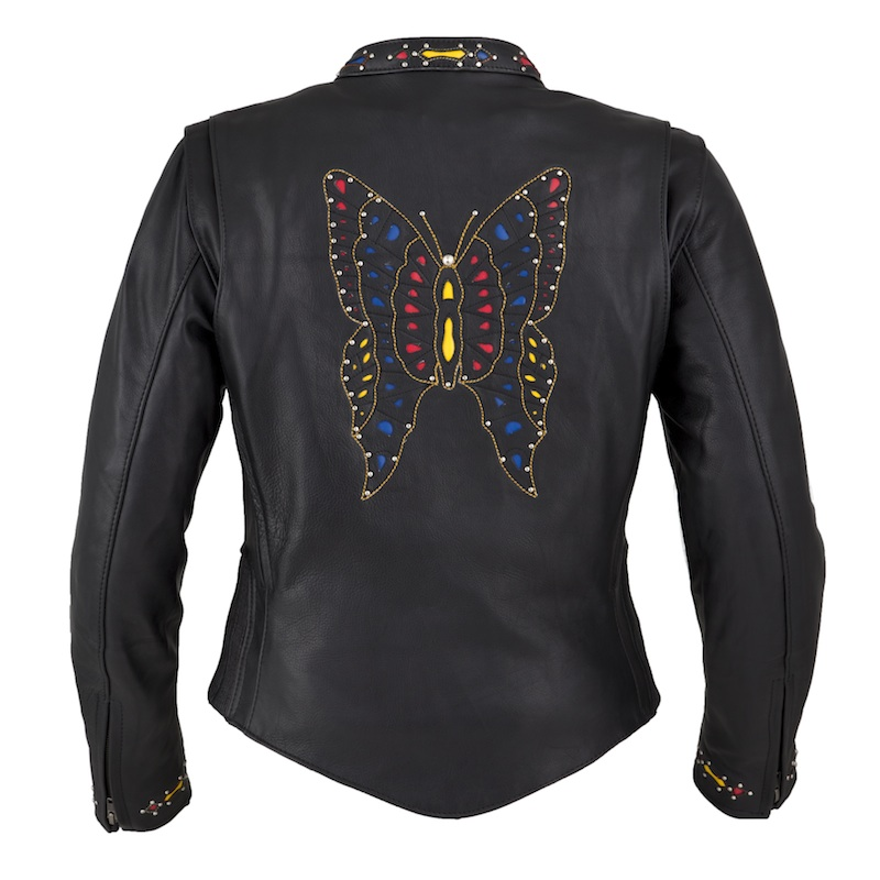 Sexy and Functional Leather Motorcycle Jackets fox creek leather butterly back