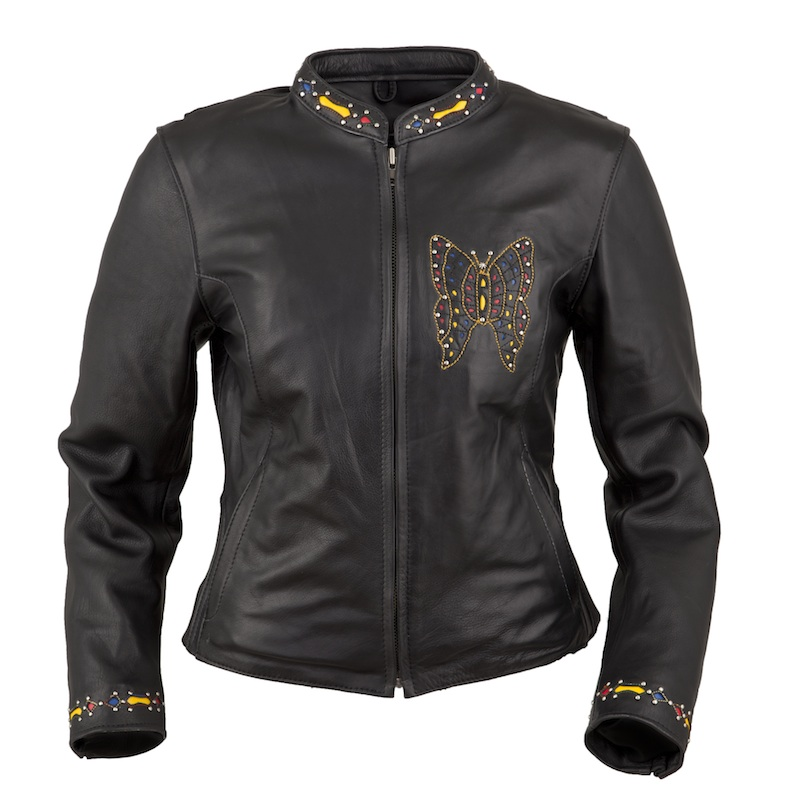 Sexy and Functional Leather Motorcycle Jackets fox creek leather butterly front