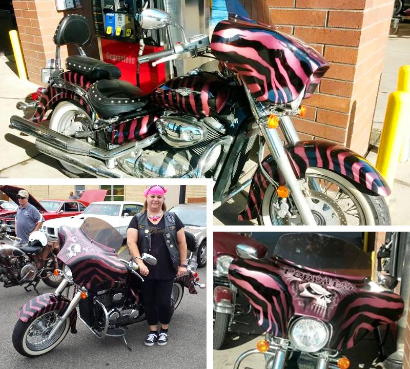 pink motorcycles 2008 suzuki boulevard