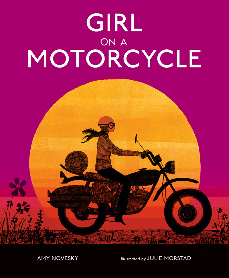 girl on a motorcycle childrens book