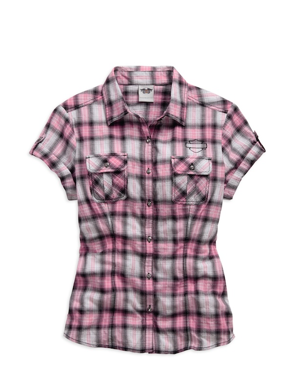Harley-Davidson Adds New Items to Pink Label Line shirt plaid